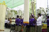 Rijst kransen Festival, Thailand — Stockfoto