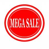 Mega sale white stamp text on red — Stock Photo