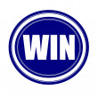 Win white stamp text on blue — Stock Photo #70228963