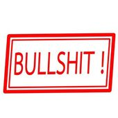 Bullshit red stamp text on white — Stock Photo