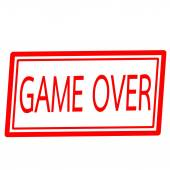 Game over red stamp text on white — Stock Photo