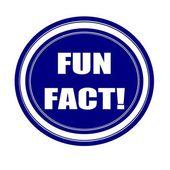 Fun fact white stamp text on blueblack — Stock Photo