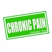 CHRONIC PAIN white stamp text on green — Stock Photo