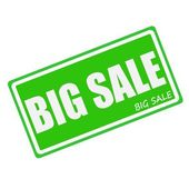 BIG SALE white stamp text on green — Stock Photo