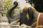 Elephant Statue Temple Ubonratchathani Thailand on April 5, 2015 — Stock Photo