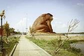 Park-Kröten und Modell Raketenfest Yasothon, Thailand — Stockfoto