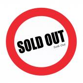 SOLD OUT black stamp text on white — Stock Photo
