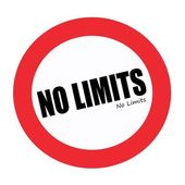 No limits black stamp text on white — Stock Photo