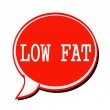 LOW FAT white stamp text on red Speech Bubble — Stock Photo #78575096