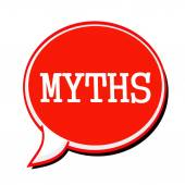 MYTHS white stamp text on red Speech Bubble — Stock Photo