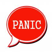 PANIC white stamp text on red Speech Bubble — Stock Photo