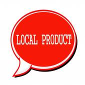 LOCAL PRODUCT white stamp text on red Speech Bubble — Stock Photo