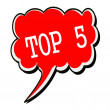 Top 5 white stamp text on red Speech Bubble — Stock Photo #79463448