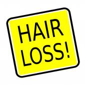 Hair loss stamp text on yellow background — Stock Photo