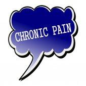 Chronic Pain white stamp text on blueblack Speech Bubble — Stock Photo
