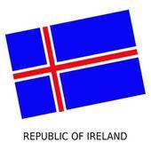 National flag of Republic of Ireland — Stock Photo