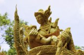 """Candle Festival UBON RATCHATHANI, THAILAND - August 2: """"The Candles are carved out of wax, Thai art form of wax(Ubon Candle Festival 2015) on August 2, 2015, UbonRatchathani, Thailand — Stock Photo"""