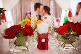 Romantic kiss on wedding — Stock Photo