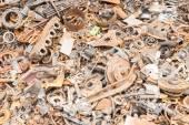 неиспользуемые железный лом, щебень, остатки железа — Стоковое фото