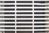 Radiator grille in front of car — Stock Photo