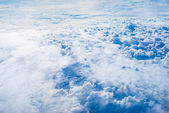 The View from the plane above the cloud and sky — ストック写真