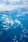 The View from the plane above the cloud and sky — Stock Photo