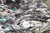 Foam unused Were left piled on the ground. For recycling — Stock Photo
