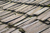 Roof made of wood pieces — Stock Photo