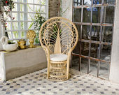 Luxury rattan chair — 图库照片