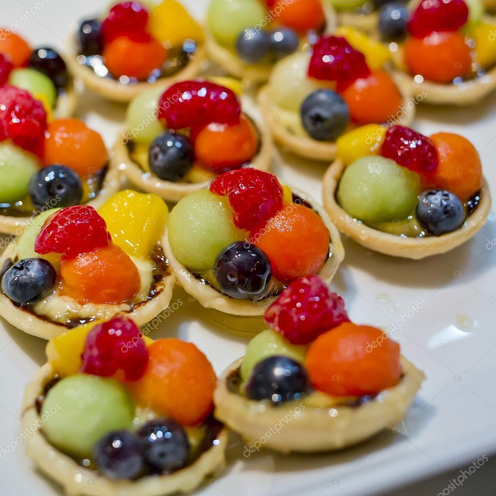 Finger food dessert and fruits cocktail stock photo - Fingerfood kindergarten ...