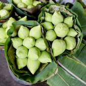 Close up of Thai style lotus on stand, Thailand — Stock Photo