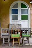 Colorful wooden chair — Stock Photo