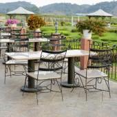 Stylish outdoor terrace — Stock Photo