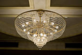 Chrystal chandelier close-up with copy space — Stock Photo