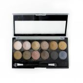 Make-up, colorful eye shadows palette — Stock Photo