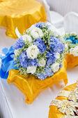 Edding bukett, blommor, rosor, vacker bukett — Stockfoto