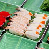 Sushi background — Stock Photo