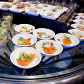 Appetizers and finger food-closeup — Stock Photo