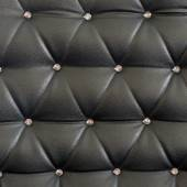 Black upholstery pattern with diamonds — Stock Photo