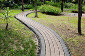 Stone Pathway in the Green Park — Stock Photo