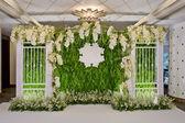 Luxury Indoors Wedding backdrop Decoration. — Stock Photo