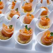 Finger Food in Cocktail Party — Stock Photo