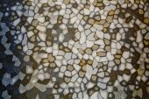 Brown, white, gray tiles mosaic background. — Stock Photo