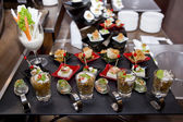 Delicious Appetizer and finger foods — Stock Photo