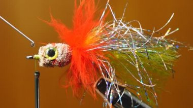 Fly fishing lure — Stock Video