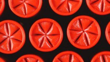 Red shotgun shells — Stock Video