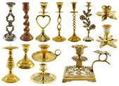 Antique candle holders — Foto de Stock