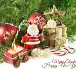 Christmas still life with Santa toy — Stock Photo #57059237
