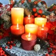 Festive burning candles — Stock Photo #58541761