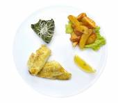 Lunch set with whitefish — Stock Photo